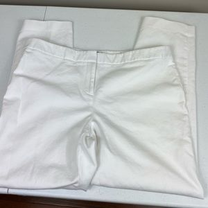 Vince Camuto White Cotton Straight Leg Pant 14